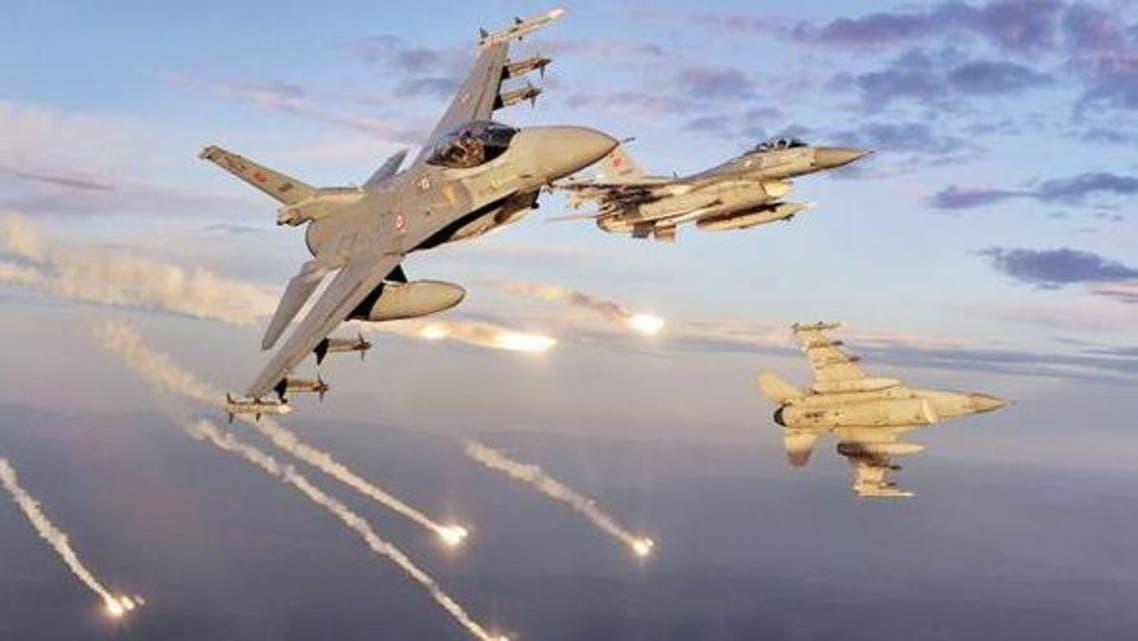 قصف تركي طائرات تركية تقصف مناطق للأكراد