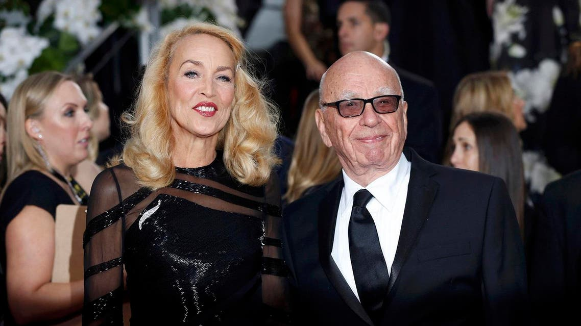 Model Jerry Hall and media magnate Rupert Murdoch arrive at the 73rd Golden Globe Awards in Beverly Hills, California January 10, 2016 Reuters