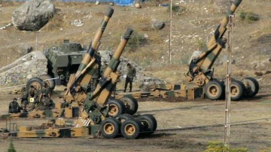 الجيش التركي يقصف مسلحين أكراداً في سوريا