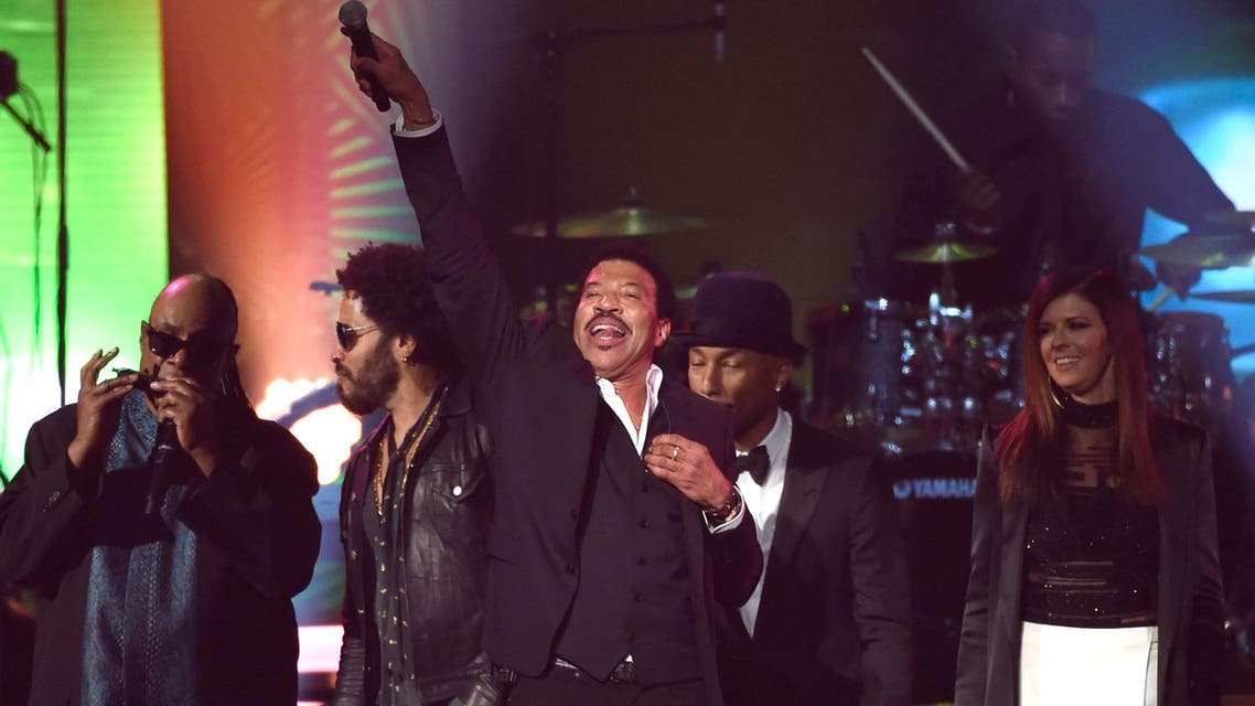 Honoree Lionel Richie performs at the MusiCares Person of the Year tribute at the Los Angeles Convention Center on Saturday, Feb. 13, 2016. (AP)
