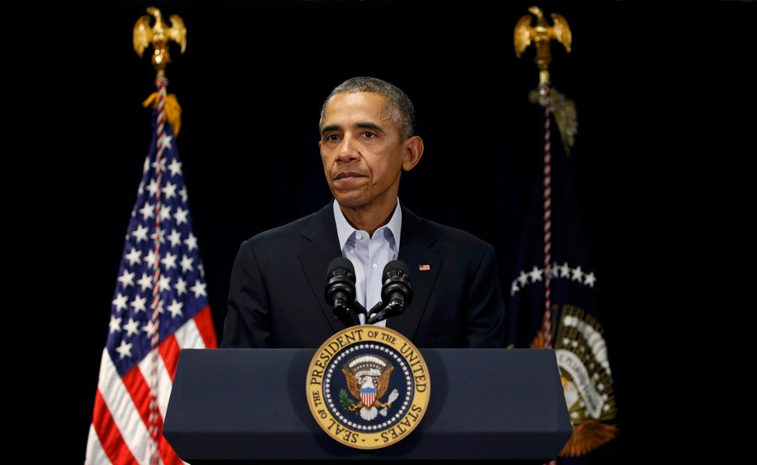 U.S. President Barack Obama speaks about the death of Supreme Court Associate Justice Antonin Scalia during a statement delivered in Rancho Mirage, California February 13, 2016. (Reuters)