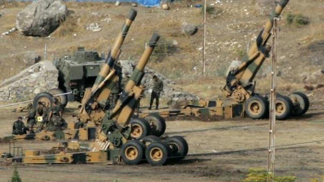 الجيش التركي يقصف مسلحين أكراد في سوريا