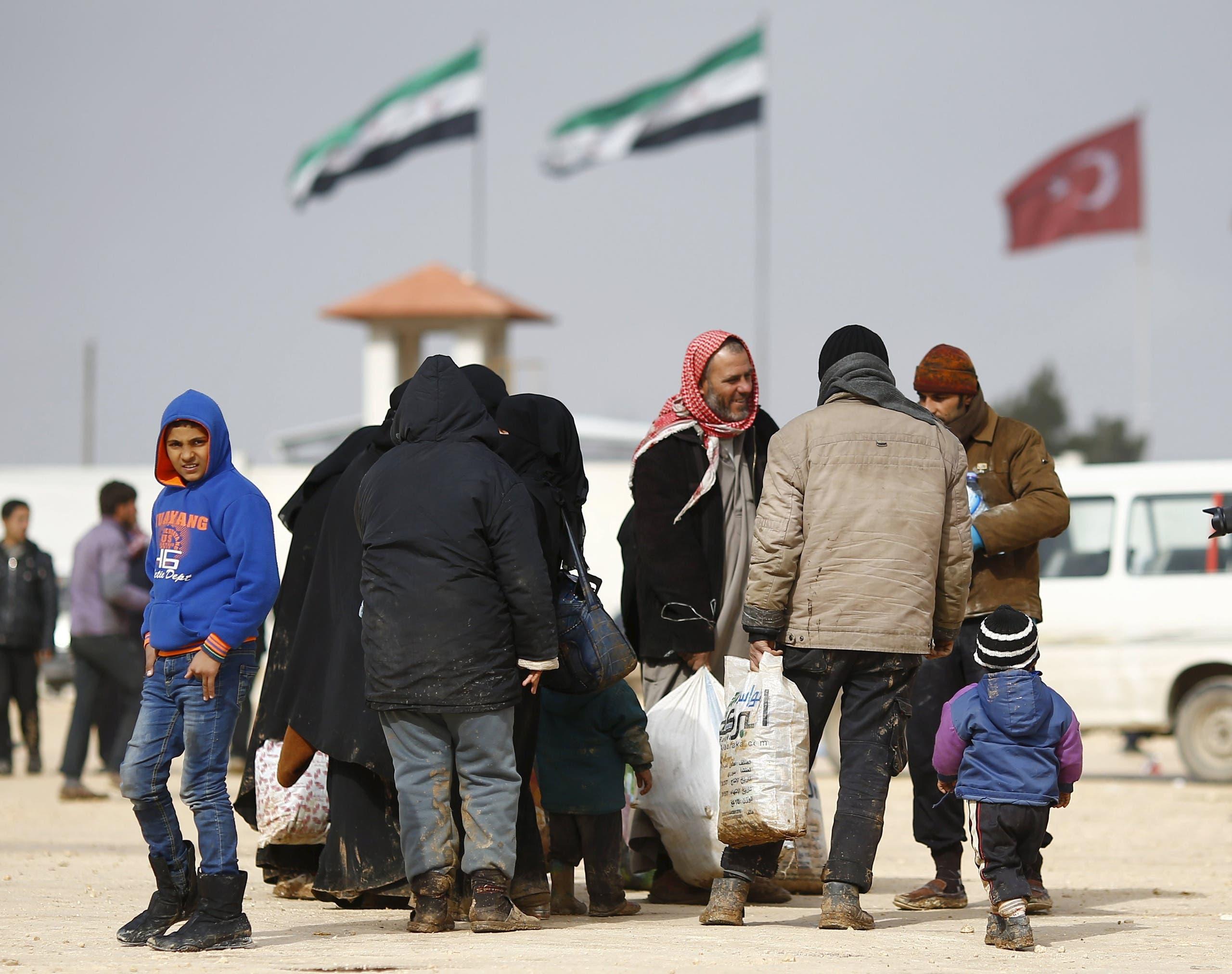 نازحون سوريون - أرشيفية