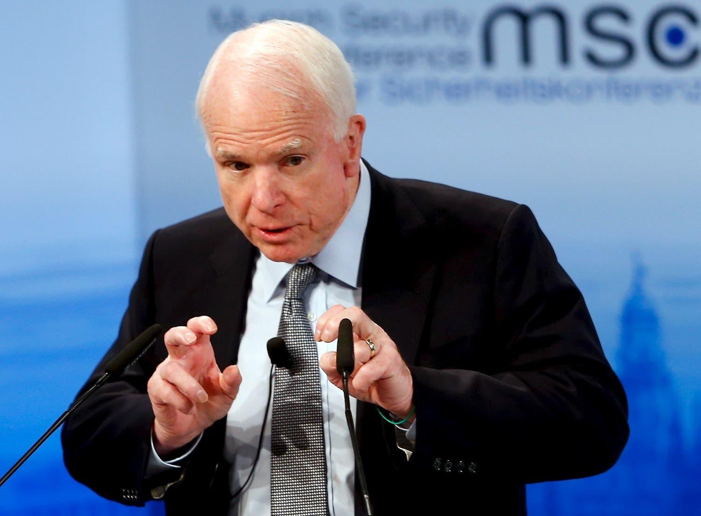 U.S. Senator John McCain speaks at the Munich Security Conference in Munich. (Reuters)