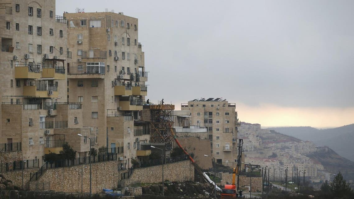 A building under construction is seen in the West Bank Jewish settlement of Beitar Illit. (Reuters)