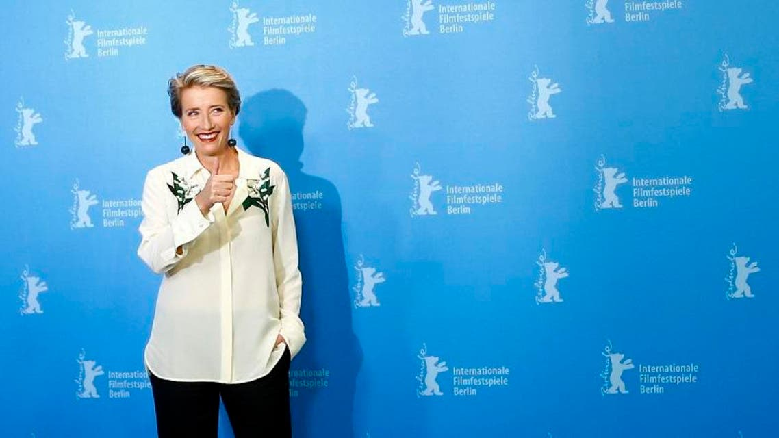 Actress Emma Thompson poses during a photocall to promote the movie 'Alone in Berlin' at the 66th Berlinale International Film Festival in Berlin, Germany, February 15, 2016. (Reuters)