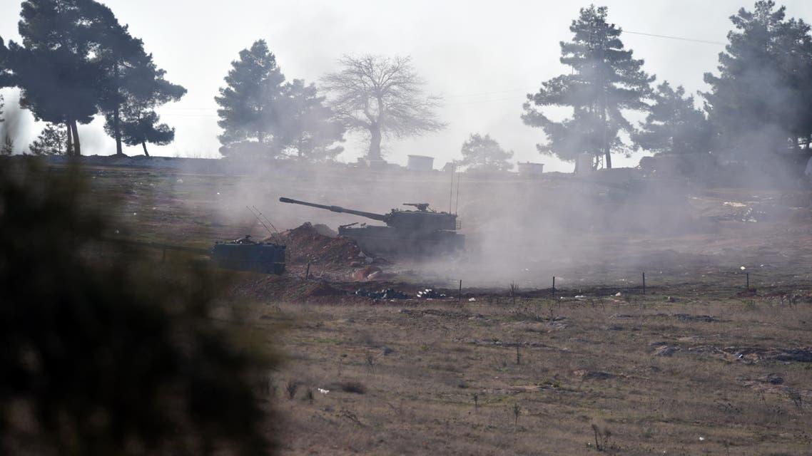 Turkish artillery fire from the border near Kilis toward northern Syria, in Kilis, Turkey, Monday, Feb. 15, 2016. AP