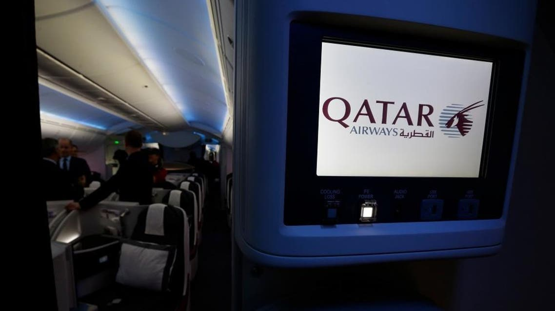 A cabin environment control screen on a Qatar Airways Boeing 787 is shown Wednesday, Nov. 4, 2015, in Everett, Wash. (AP Photo/Ted S. Warren)