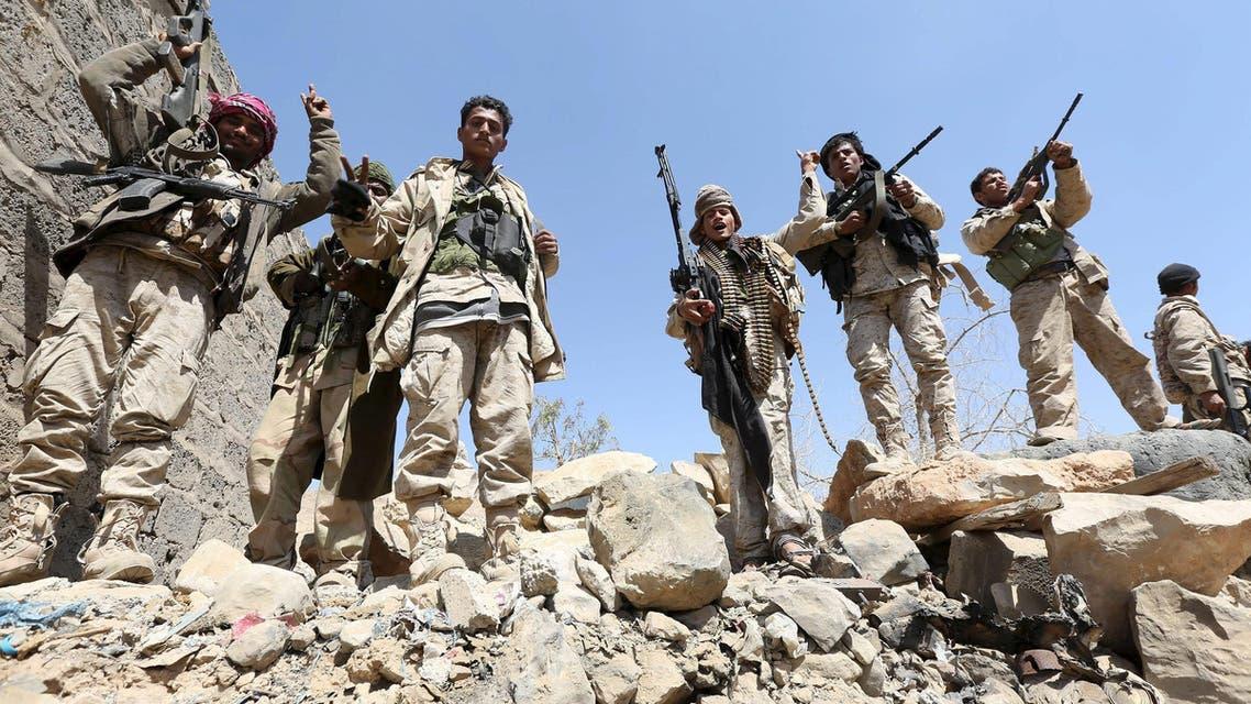 عناصر من الجيش اليمني في فرضة نهم
