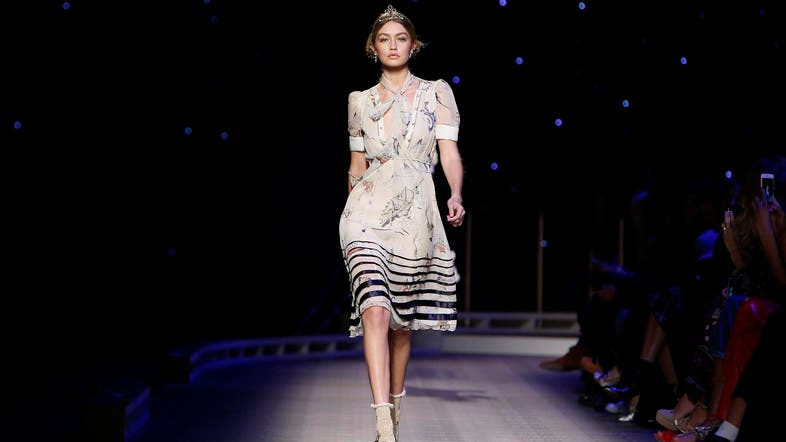 b03702265ac Gigi Hadid models a dress from the Tommy Hilfiger Fall 2016 collection  during Fashion Week. (AP)