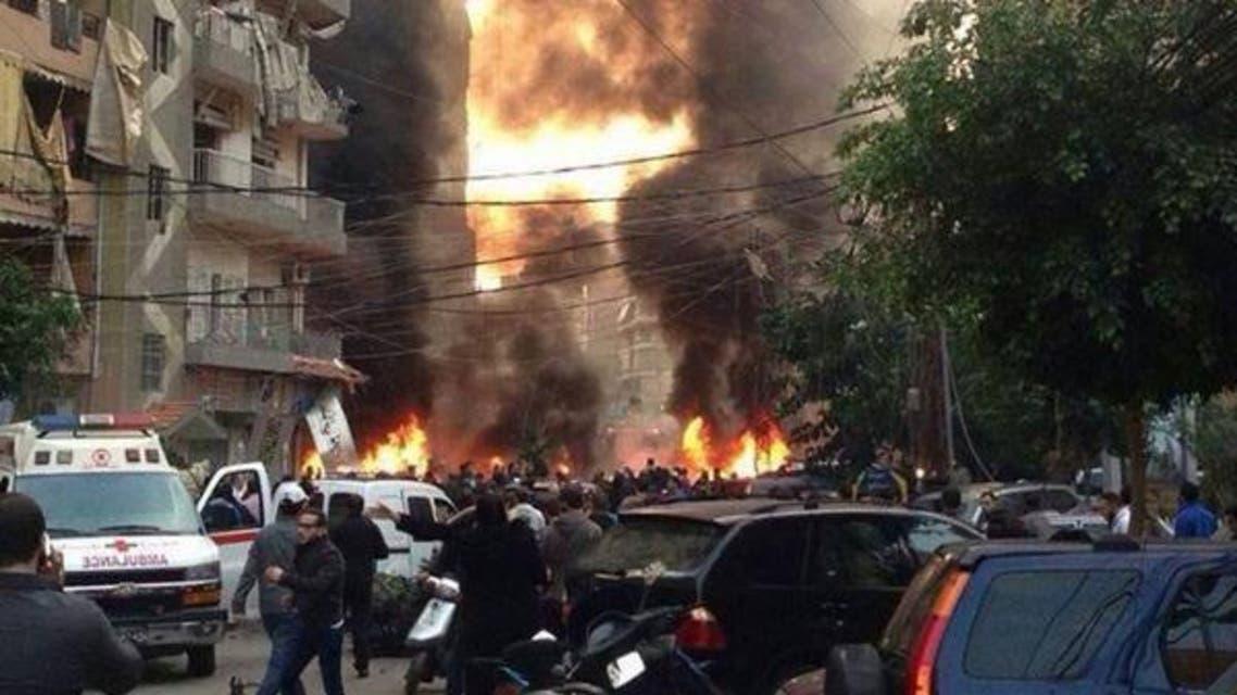 تفجير حارة حريك في بيروت في يناير 2014