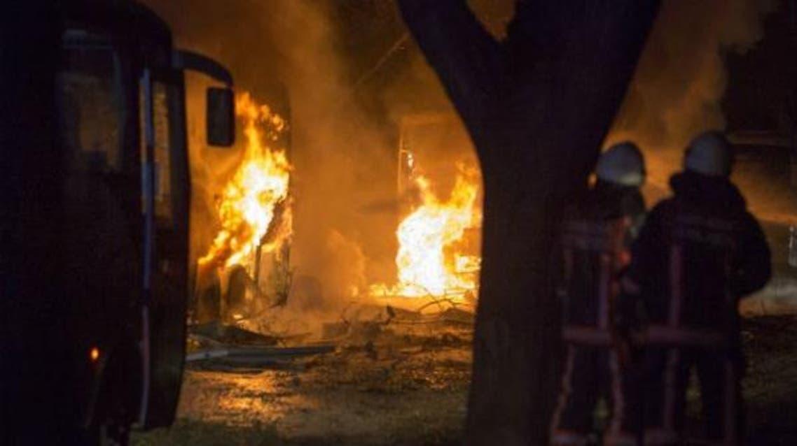 تركيا.. قتلى وجرحى في تفجير حافلة عسكرية في أنقرة