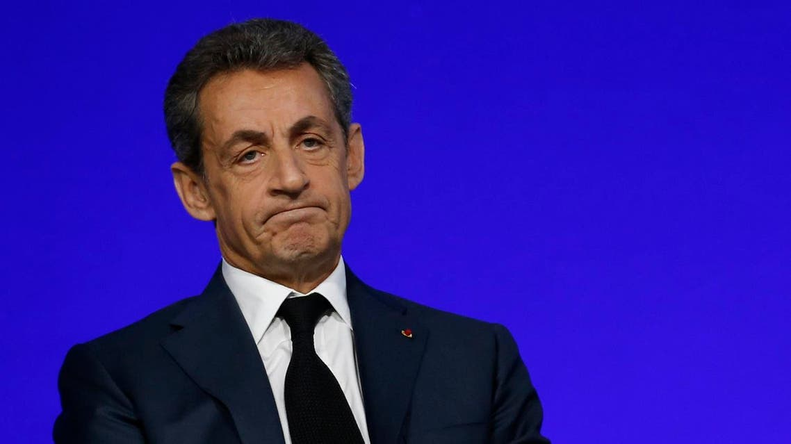 File photo of Nicolas Sarkozy, head of France's Les Republicains political party and former French President, speaks on the second day of his party's national council in Paris. (Reuters)