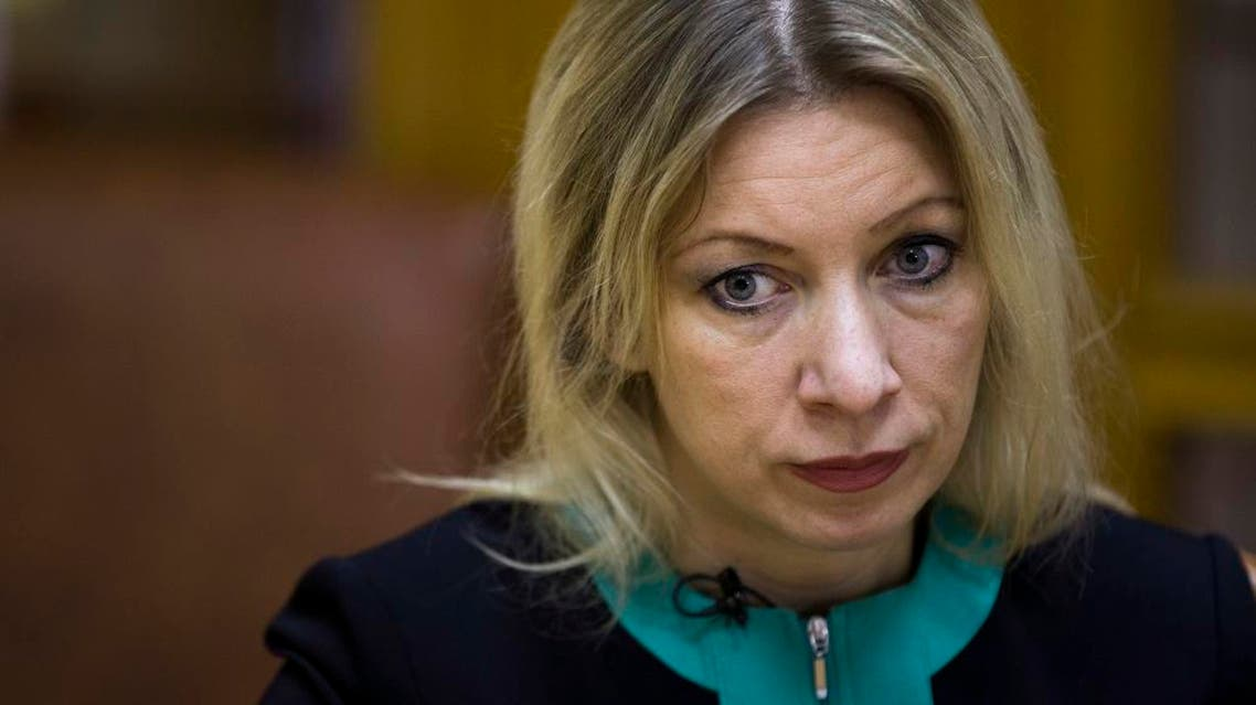 """Russian Foreign Ministry spokeswoman Maria Zakharova listens for a question during her interview to the Associated Press in Moscow, Russia, Tuesday, Dec. 1, 2015. Zakharova told The Associated Press on Tuesday that the incident, in which two Russian servicemen were killed, not only strained the previously warm ties between Russia and Turkey but also """"made the Vienna talks difficult"""" and made Moscow more determined to get other parties to agree on a list of terrorist groups in Syria before the next round of talks. Without that, Zakharova said a joint action in Syria is impossible. (AP Photo/Pavel Golovkin)"""