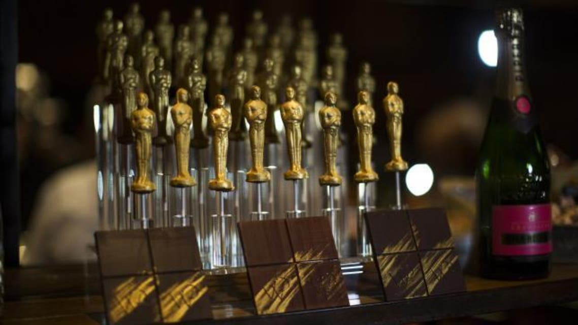 Oscar shaped chocolates are pictured at a preview of the food and decor for the 87th Academy Awards' Governors Ball at the Ray Dolby ballroom in Hollywood, California in this February 4, 2015, file photo. REUTERS