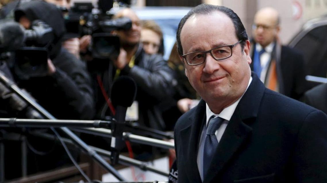 France's President Francois Hollande arrives for a European Union leaders summit addressing the talks about the so-called Brexit and the migrants crisis in Brussels, Belgium, February 19, 2016 (Reuters)