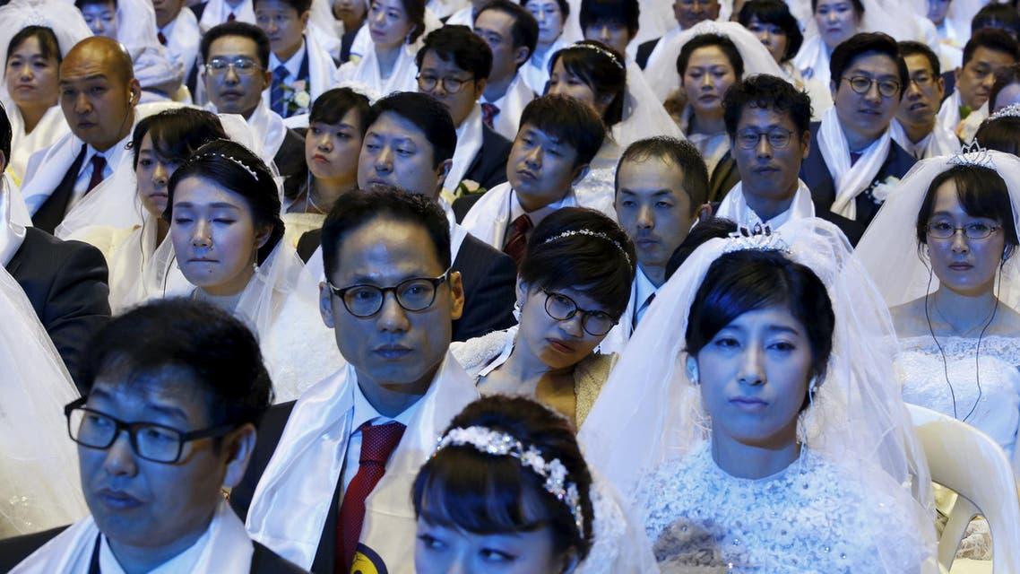 حفل زفاف جماعي في كوريا