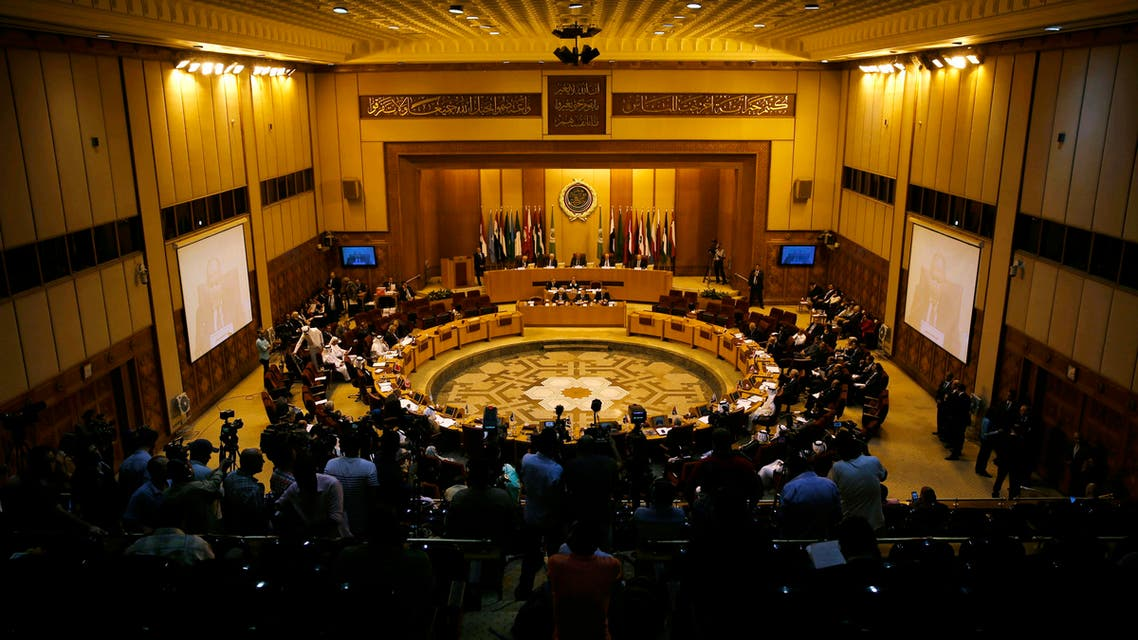 Representatives of the Arab League attend the Arab Initiative follow-up committee at the Arab League headquarters in Cairo, Egypt, Wednesday, Aug. 5, 2015. (AP)