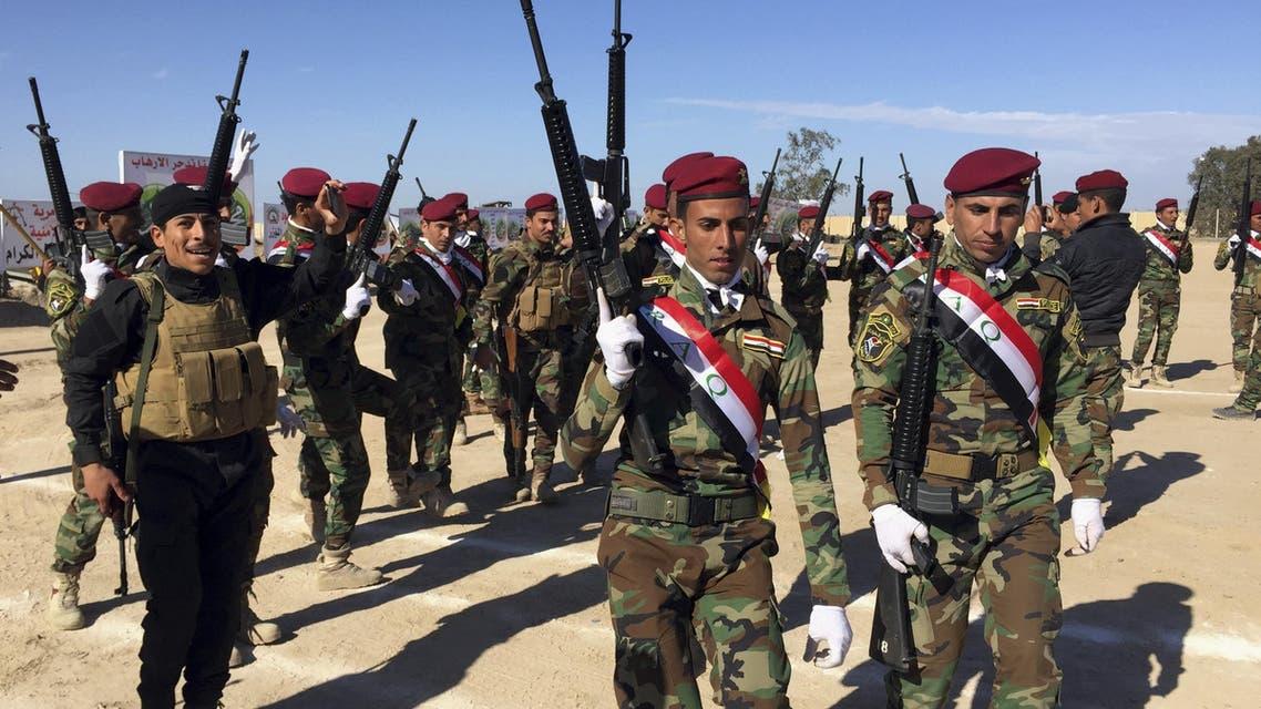 عناصر من القوات العشائرية في ضواحي الفلوجة لعشائر العراق الأنبار