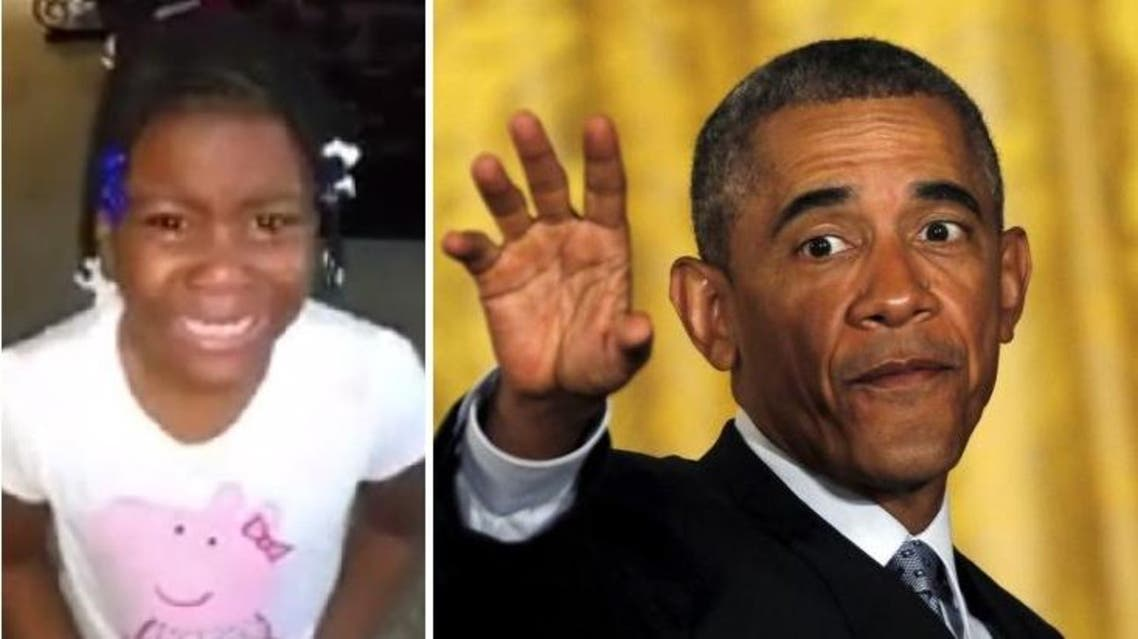 In a viral video, the girl bursts into tears when she finds out Obama can only stay for two terms