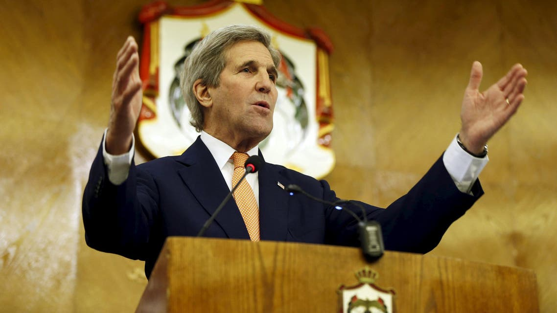U.S. Secretary of State John Kerry speaks during a joint news conference in Amman. (Reuters)