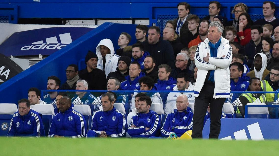 Football Soccer - Chelsea v Manchester City - FA Cup Fifth Round - Stamford Bridge - 21/2/16 Chelsea manager Guus Hiddink Reuters