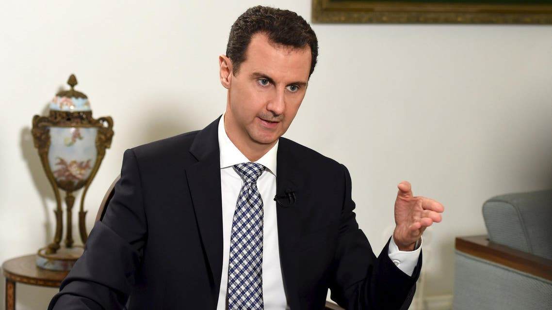 Syria's President Bashar al-Assad speaks during an interview with Spanish newspaper El Pais in Damascus, in this handout picture provided by SANA on February 20, 2016. REUTERS