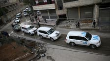 Syria aid convoy on hold after Assad forces split the enclave in two