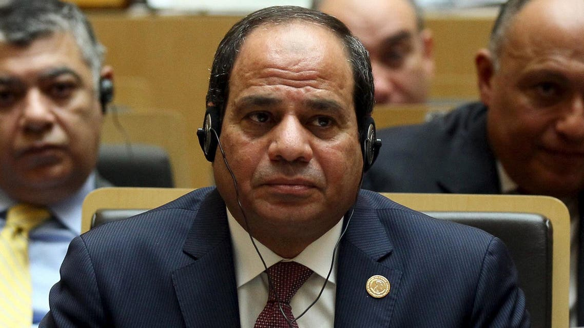 Egypt's President Abdel Fattah al-Sisi attends the opening ceremony of the 26th Ordinary Session of the Assembly of the African Union (AU) at the AU headquarters in Ethiopia's capital Addis Ababa, January 30, 2016.  (Reuters)