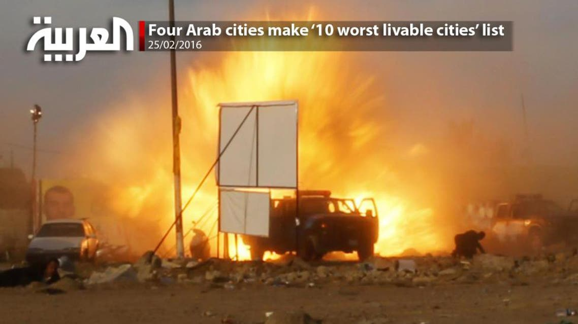 Four Arab cities make '10 worst livable cities' list