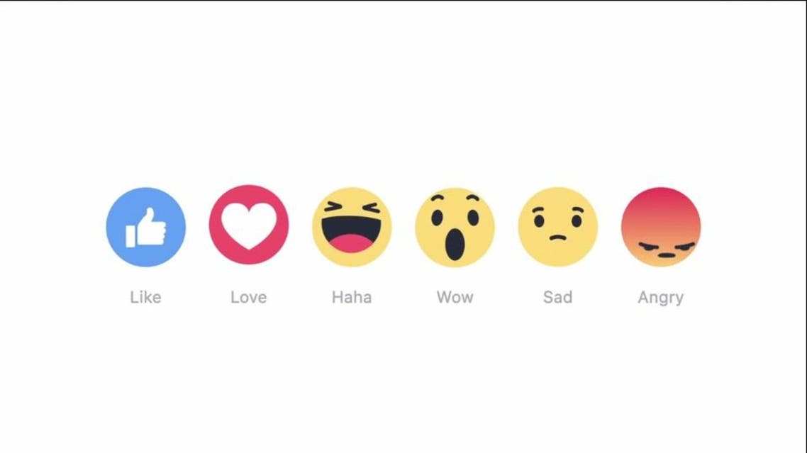 "Facial expressions tagged ""love,"" ""haha,"" ""sad,"" ""angry"" and ""wow"" now can be used to respond to a post. (Photo courtesy: Facebook screengrab)"
