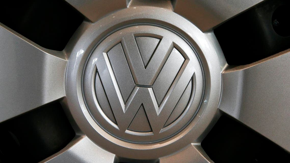 The logo of German carmaker Volkswagen is seen on a wheel at a showroom of Swiss car importer AMAG in Duebendorf, Switzerland February 12, 2016. REUTERS
