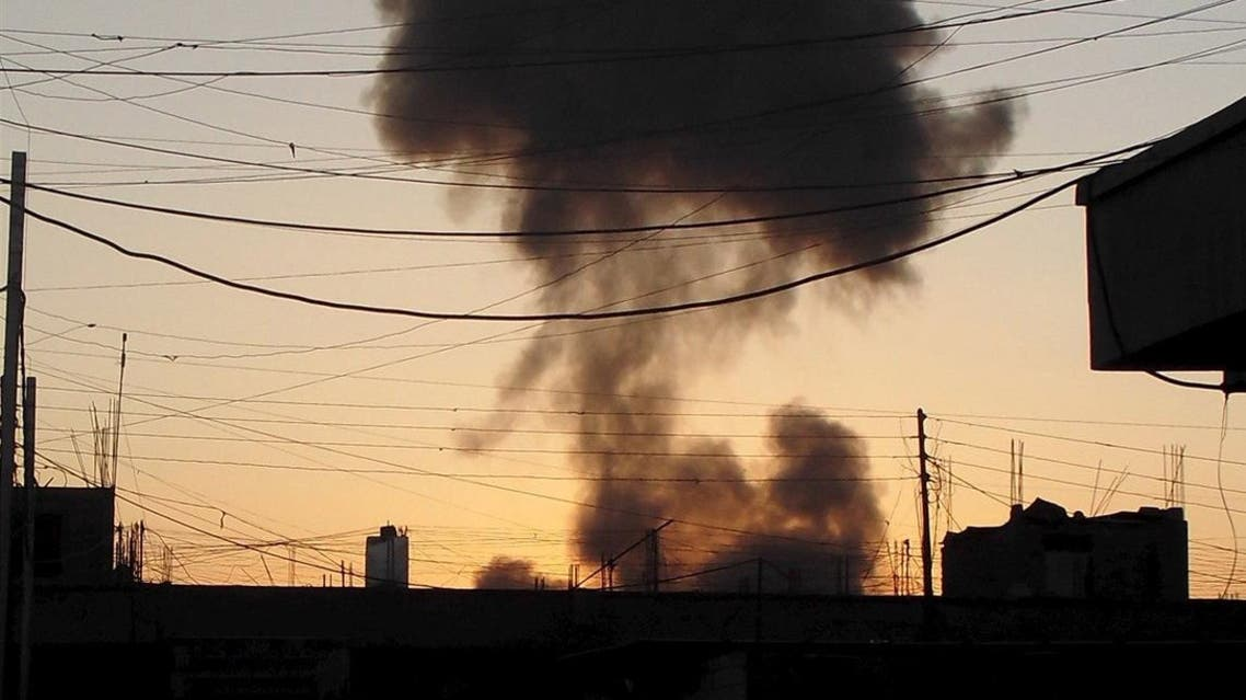 Smoke rises after a bomb attack in the city of Ramadi, a former ISIS stronghold. (File photo: AP)