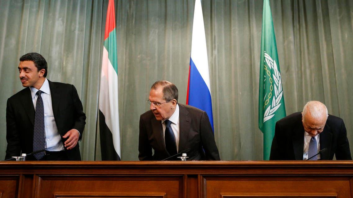 لافروف ومحمد بن زايد ونبيل العربي