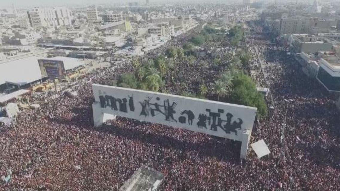 مظاهرات مؤيدة ل مقتدى الصدر