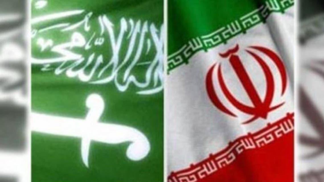 پرچم ایران و سعودی