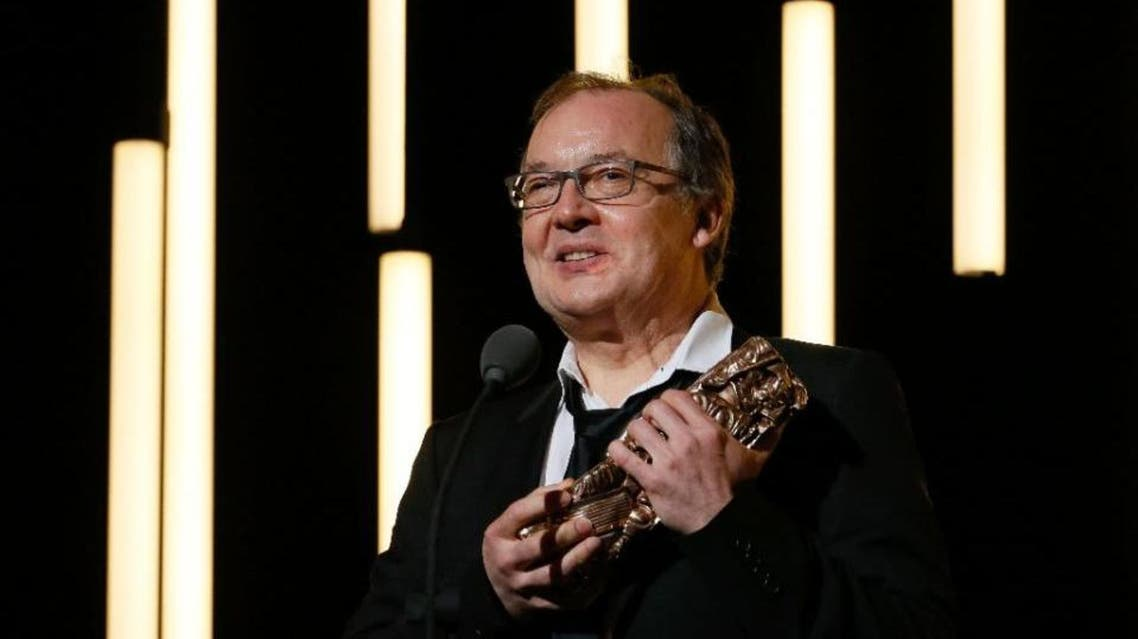 "French director Philippe Faucon speaks after winning the Best Writing - Adaptation award for ""Fatima"" during the 41st edition of the Cesar Ceremony at the Theatre du Chatelet in Paris on February 26, 2016 (AFP"