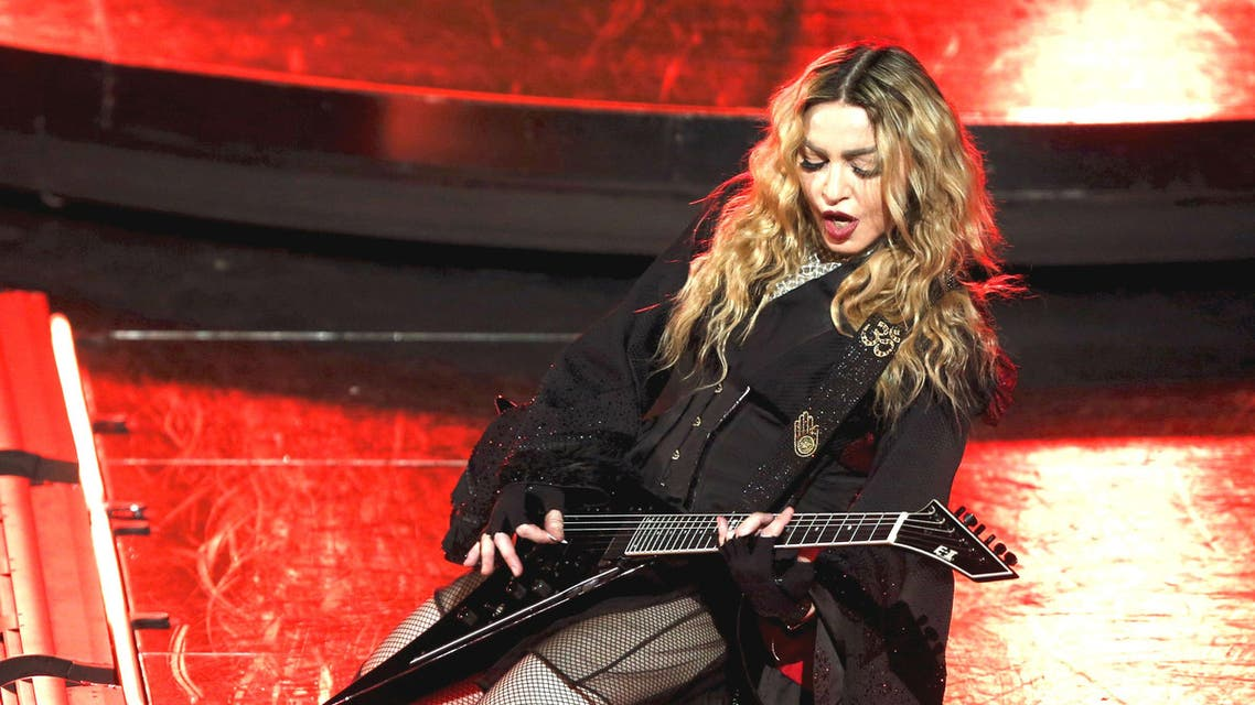 Madonna performs during her Rebel Heart Tour concert at Studio City in Macau, China February 20, 2016. (Reuters)