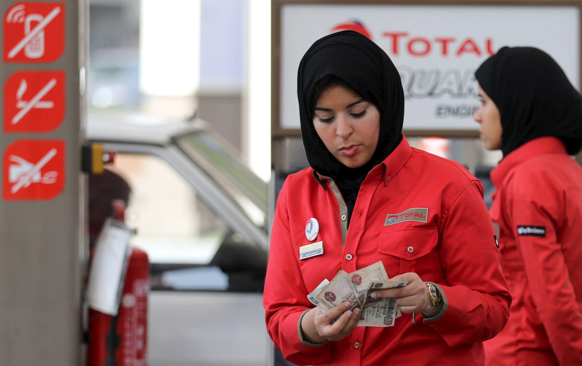 Meet Cairo's female petrol pump attendants