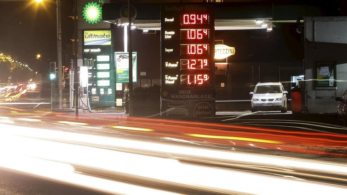 A BP and a Shell oil and gas station is pictured in Hall in Tirol, Austria. (Reuters)