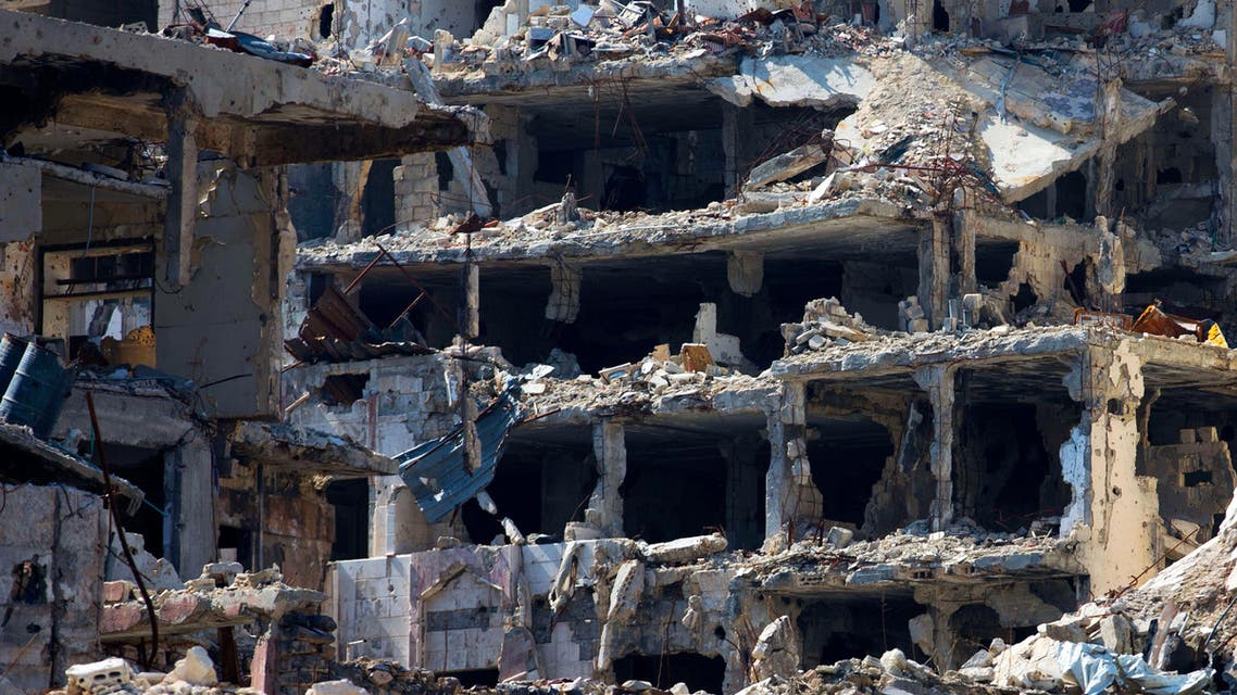 In this picture taken Friday, Feb. 26, 2016, destroyed buildings are seen in the old city of Homs, Syria. (AP)