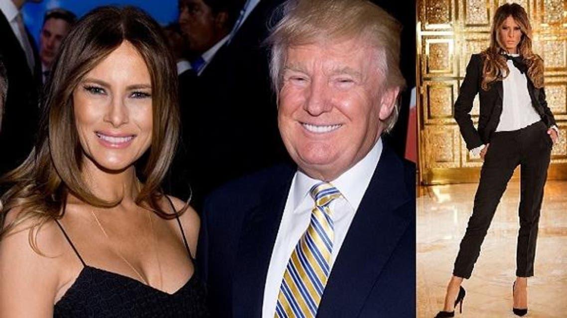 ترامب مع زوجته الثالثة الحالية ميلانيا ناس