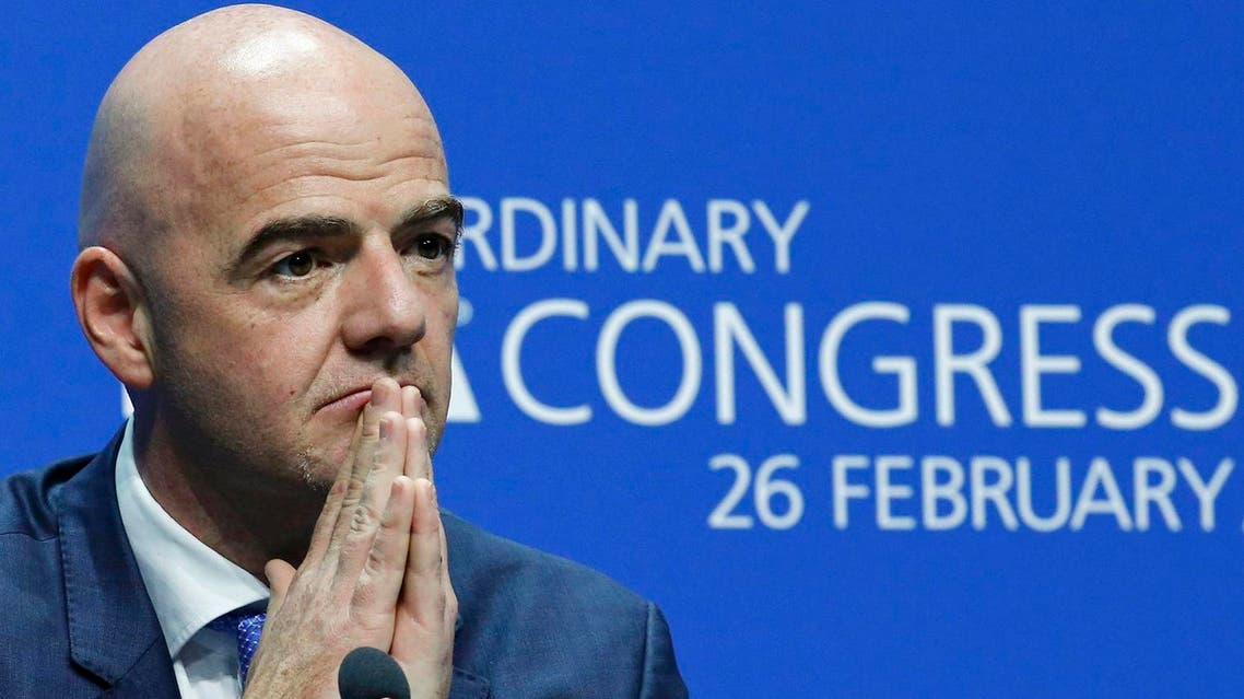 Newly elected FIFA President Infantino attends a news conference during the Extraordinary FIFA Congress in Zurich. (Reuters)