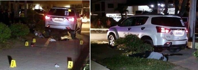 جثة نراها قرب سيارة لها علاقة بالحادث، لكن صحيفة Mindanao Examiner نشرتها من دون أي شرح