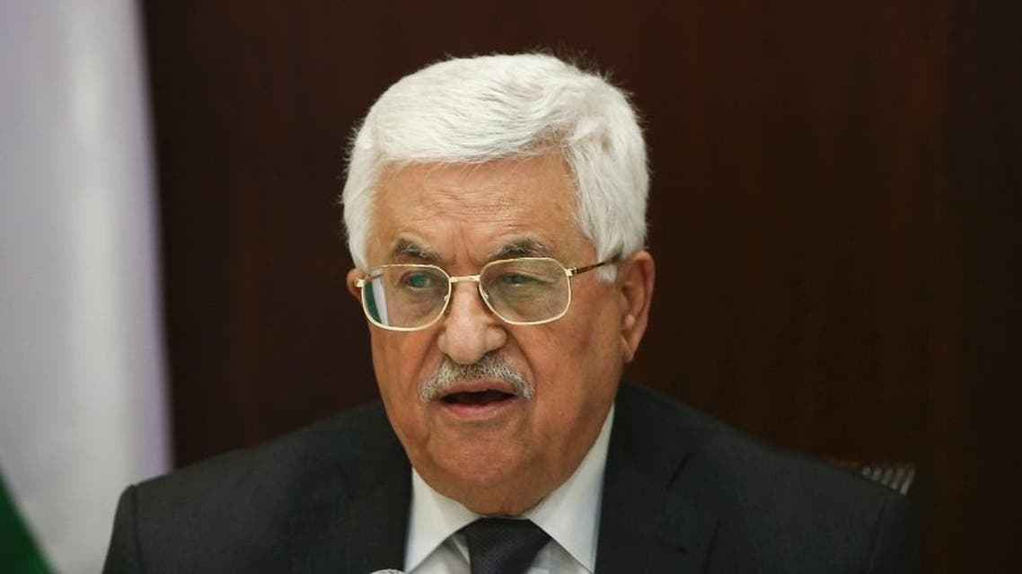 Palestinian president Mahmud Abbas heads a meeting with the Palestine Liberation Organisation's (PLO) executive committee at his office in the West Bank city of Ramallah. (AFP)