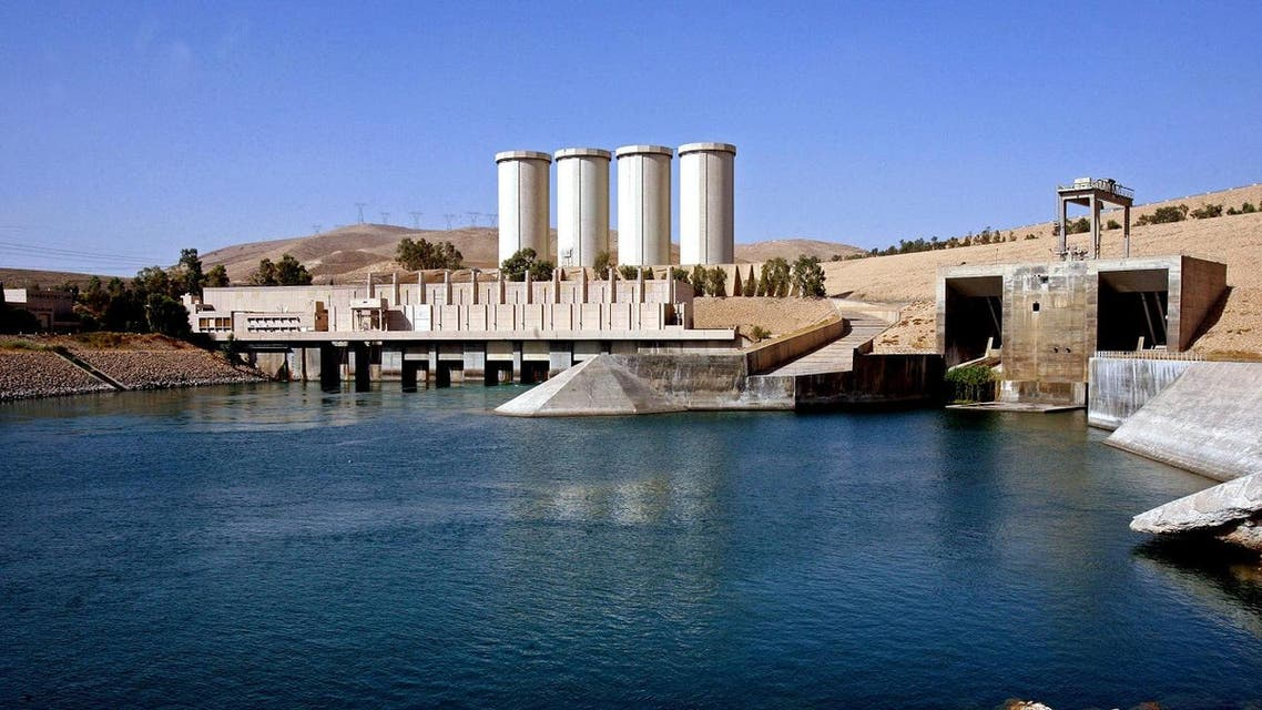 This Oct. 31, 2007 file photo, shows a general view of the dam in Mosul, 360 kilometers (225 miles) northwest of Baghdad, Iraq. An Italian engineering firm is set to ink a contract with the Iraqi government to begin shoring up the country's rickety Mosul dam. But engineering experts warn the rehabilitation plans are nowhere near a solution and that the key piece of Iraqi infrastructure is beyond repair. (AP Photo/ Khalid Mohammed, File)