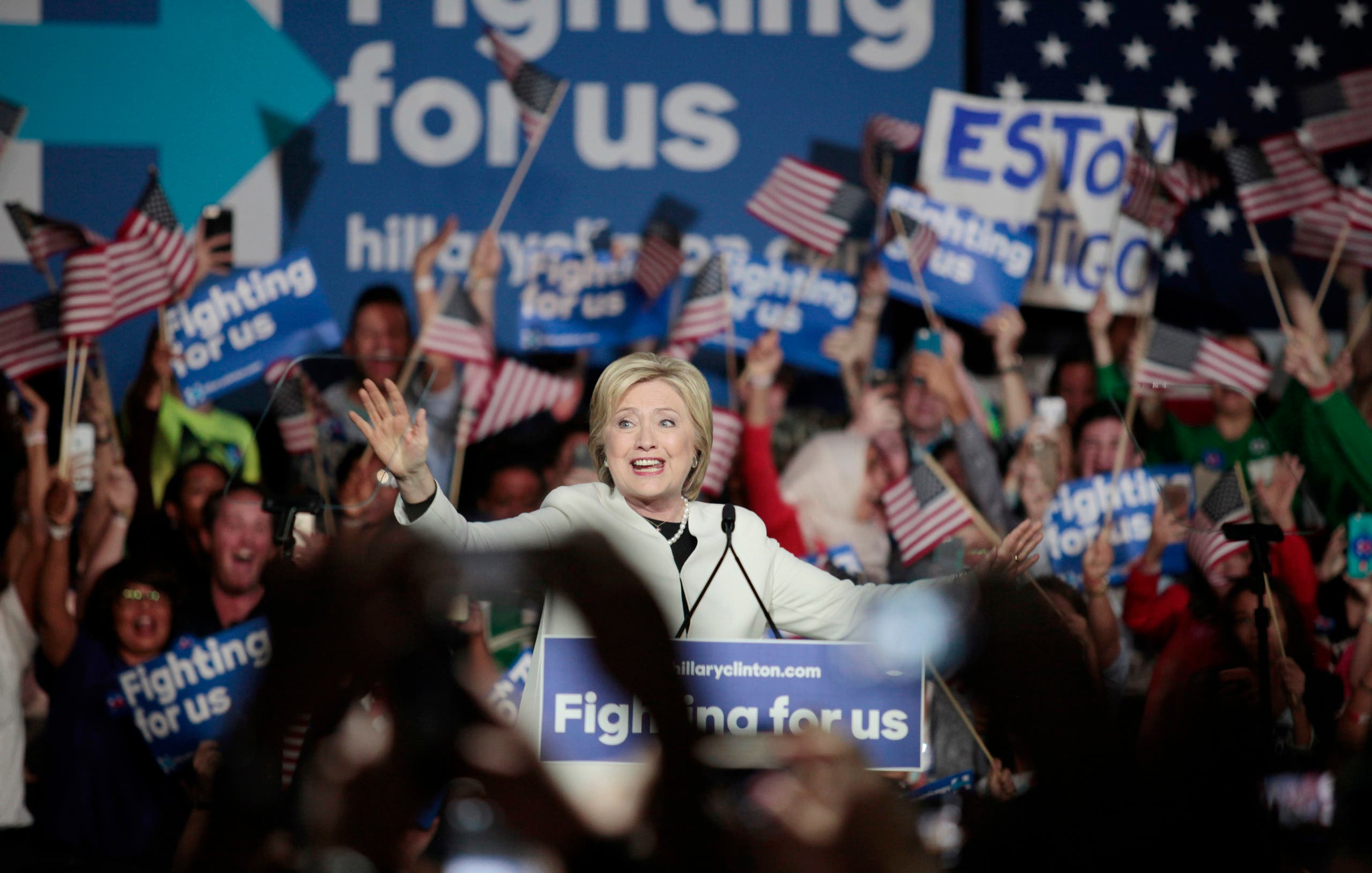 U.S. presidential candidate Hillary Clinton speaks about the results of the Super Tuesday primaries at a campaign rally in Miami, Florida March 1, 2016.