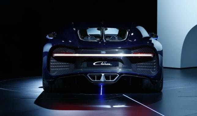 Bugatti unveiled the world's fastest road car at the Geneva auto show this week.