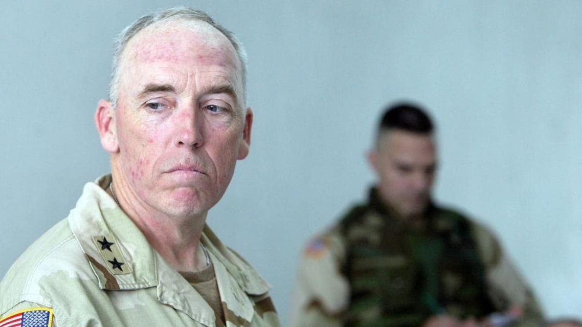 Former Guantanamo prison chief Geoffrey Miller, pictured on May 5, 2004, was commander of the prison from 2002 to 2004 and is now retired. (AFP)
