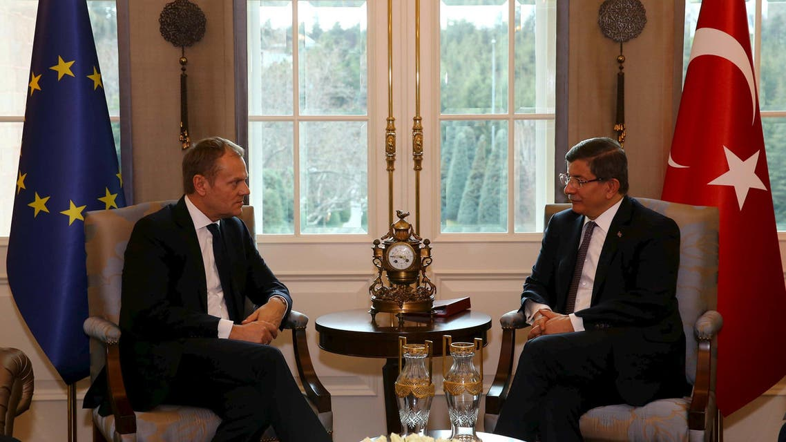 داود أوغلو في أنقرة مع رئيس مجلس الاتحاد الأوروبي دونالد توسك